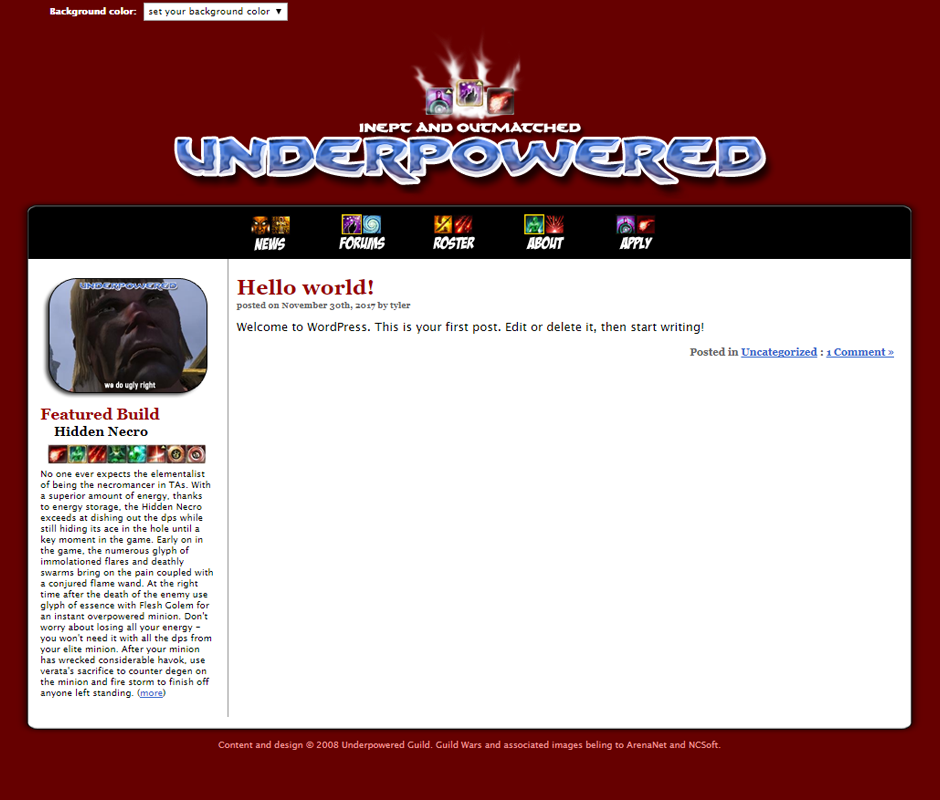 Thumbnail for Underpowered.org.